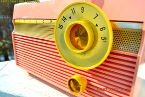 SOLD! - Feb 21, 2017 - MADISON PINK Mid Century Jet Age Retro 1959 Philco Model F813-124 Tube AM Radio Totally Awesome!! - [product_type} - Philco - Retro Radio Farm