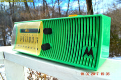 SEA GREEN Mid Century Retro Jetsons 1957 Motorola 56H Tube AM Radio Excellent Condition!