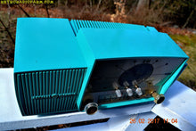 Load image into Gallery viewer, SOLD! - April 17, 2017 - TURQUOISE Mid Century Jetsons 1957 General Electric Model 914 Tube AM Clock Radio Sweet! - [product_type} - General Electric - Retro Radio Farm