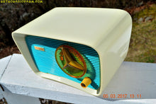 Load image into Gallery viewer, SOLD! - June 5, 2017 - SO JETSONS LOOKING Retro Vintage Turquoise and White 1959 Travler Model T-204 AM Tube Radio Near Mint!