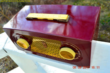 Load image into Gallery viewer, SOLD! - Mar 16, 2017 - MAROON Mid Century Retro Jetsons Vintage 1955 Zenith Model R511-R AM Tube Radio Excellent Condition!