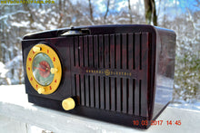 Load image into Gallery viewer, SOLD! - Mar 14, 2017 - BLUETOOTH MP3 READY - Golden Age Art Deco 1953 General Electric Model 515F AM Brown Bakelite Tube Clock Radio Totally Restored! - [product_type} - General Electric - Retro Radio Farm