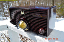 Load image into Gallery viewer, SOLD! - Nov 29, 2017 - ESPRESSO Mid Century Retro Jetsons 1957 Motorola 56H Turbine Tube AM Radio Marbled!