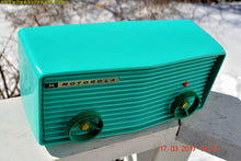 Load image into Gallery viewer, SOLD! - June 17, 2019 - Beautiful Turquoise 1957 Motorola 57R Tube AM Antique Radio New Old Stock Cabinet! - [product_type} - Retro Radio Farm - Retro Radio Farm