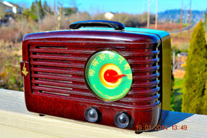 SOLD! - June 6, 2014 - BEAUTIFUL Retro Vintage 1950 Emerson 642A Bakelite AM Tube Radio WORKS! , Vintage Radio - Emerson, Retro Radio Farm  - 4