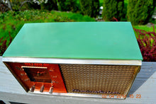 Load image into Gallery viewer, SOLD! - May 28, 2014 - BEAUTIFUL GREEN AND COPPER Retro Jetsons 1950's Stromberg Carlson C-5 Tube AM Clock Radio WORKS! - [product_type} - Stromberg Carlson - Retro Radio Farm