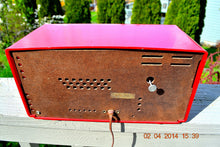 Load image into Gallery viewer, SOLD! - April 8, 2015 - WILD CHERRY RED Retro Jetsons 1950's Dumont Tube AM Clock Radio Totally Restored! - [product_type} - Dumont - Retro Radio Farm