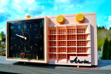 Load image into Gallery viewer, Powder Pink MONSTROSITY Retro Jetsons 1957 Arvin 5561 Tube AM Clock Radio Totally Restored! , Vintage Radio - Arvin, Retro Radio Farm  - 2