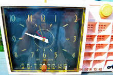Load image into Gallery viewer, SOLD! - Mar 11, 2017 - POWDER Pink Mid Century Retro Jetsons 1957 Arvin 5561 Tube AM Clock Radio Works Great! - [product_type} - Arvin - Retro Radio Farm