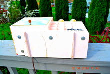Load image into Gallery viewer, Powder Pink MONSTROSITY Retro Jetsons 1957 Arvin 5561 Tube AM Clock Radio Totally Restored! , Vintage Radio - Arvin, Retro Radio Farm  - 9