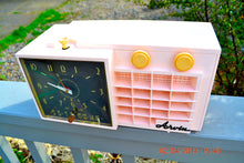 Load image into Gallery viewer, Powder Pink MONSTROSITY Retro Jetsons 1957 Arvin 5561 Tube AM Clock Radio Totally Restored! , Vintage Radio - Arvin, Retro Radio Farm  - 6