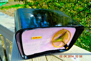 SOLD ! - Oct. 23, 2014 - Retro Vintage PINK and BLACK Travler T-204 AM Tube Radio WORKS! - [product_type} - Travler - Retro Radio Farm