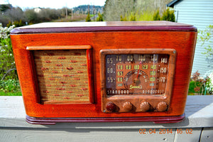 SOLD! - June 10, 2014 - BEAUTIFUL Wood Art Deco Retro 1947 Sonora Ret-210 AM Tube Radio Works! , Vintage Radio - Sonora, Retro Radio Farm  - 1