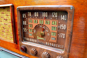 SOLD! - June 10, 2014 - BEAUTIFUL Wood Art Deco Retro 1947 Sonora Ret-210 AM Tube Radio Works! , Vintage Radio - Sonora, Retro Radio Farm  - 5