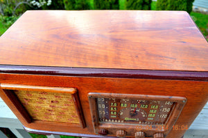 SOLD! - June 10, 2014 - BEAUTIFUL Wood Art Deco Retro 1947 Sonora Ret-210 AM Tube Radio Works! , Vintage Radio - Sonora, Retro Radio Farm  - 8