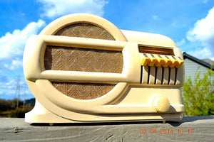 SOLD! - June 2, 2014 - BEAUTIFUL Art Deco 1939 Rabbit Belmont 519 Bakelite AM Tube Radio Works! , Vintage Radio - Belmont, Retro Radio Farm  - 1