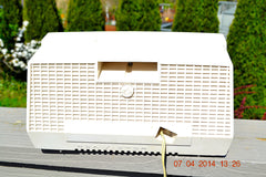 SOLD! - July 11, 2014 - AQUA AND WHITE Atomic Age Vintage 1959 RCA Victor Model X-4HE Tube AM Radio WORKS! , Vintage Radio - RCA Victor, Retro Radio Farm  - 8