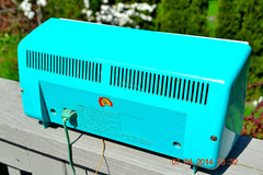 SOLD! - April 22, 2014 - SEAFOAM GREEN Atomic Age Vintage 1959 Sylvania Z6F17 Tube FM Radio WORKS! , Vintage Radio - Sylvania, Retro Radio Farm  - 7