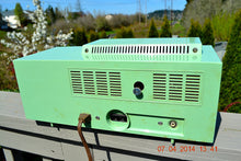 Load image into Gallery viewer, SOLD! - April 22, 2014 - BEAUTIFUL PASTEL GREEN Retro Jetsons 1959 Admiral 298 Tube AM Clock Radio WORKS! - [product_type} - Admiral - Retro Radio Farm