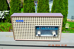 SOLD! - Dec 24, 2014 - SAHARA TAUPE Atomic Age Vintage 1957 General Electric T-166 Tube AM Radio WORKS! , Vintage Radio - General Electric, Retro Radio Farm  - 2