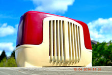Load image into Gallery viewer, SOLD! - Sept 22, 2014 - BEAUTIFUL Burgundy Ivory Retro Vintage Deco 1947 Sonora WJU-253 Tube Radio Works , Vintage Radio - Sonora, Retro Radio Farm  - 2