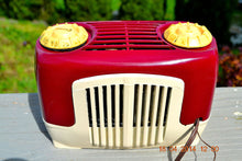 Load image into Gallery viewer, SOLD! - Sept 22, 2014 - BEAUTIFUL Burgundy Ivory Retro Vintage Deco 1947 Sonora WJU-253 Tube Radio Works , Vintage Radio - Sonora, Retro Radio Farm  - 4