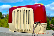 Load image into Gallery viewer, SOLD! - Sept 22, 2014 - BEAUTIFUL Burgundy Ivory Retro Vintage Deco 1947 Sonora WJU-253 Tube Radio Works , Vintage Radio - Sonora, Retro Radio Farm  - 6