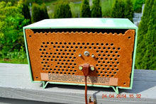 Load image into Gallery viewer, SOLD! - July 11, 2014 - PISTACHIO GREEN Retro Vintage 1957 General Electric 457S AM Tube Radio WORKS! - [product_type} - General Electric - Retro Radio Farm