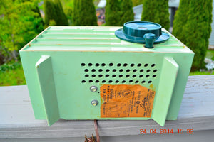 SOLD! - July 11, 2014 - PISTACHIO GREEN Retro Vintage 1957 General Electric 457S AM Tube Radio WORKS! - [product_type} - General Electric - Retro Radio Farm
