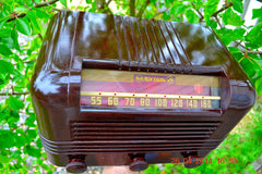 SOLD! - May 25 2014 - BEAUTIFUL PRISTINE Rare Art Deco Retro 1940 RCA Victor 15X AM Tube Radio Works! Wow! , Vintage Radio - RCA Victor, Retro Radio Farm  - 3