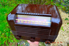 SOLD! - May 25 2014 - BEAUTIFUL PRISTINE Rare Art Deco Retro 1940 RCA Victor 15X AM Tube Radio Works! Wow! , Vintage Radio - RCA Victor, Retro Radio Farm  - 7