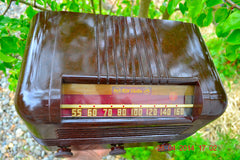 SOLD! - May 25 2014 - BEAUTIFUL PRISTINE Rare Art Deco Retro 1940 RCA Victor 15X AM Tube Radio Works! Wow! , Vintage Radio - RCA Victor, Retro Radio Farm  - 5