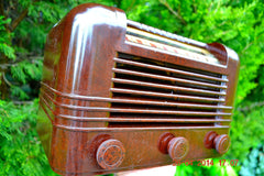 SOLD! - May 25 2014 - BEAUTIFUL PRISTINE Rare Art Deco Retro 1940 RCA Victor 15X AM Tube Radio Works! Wow! , Vintage Radio - RCA Victor, Retro Radio Farm  - 8