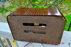 SOLD! - May 25 2014 - BEAUTIFUL PRISTINE Rare Art Deco Retro 1940 RCA Victor 15X AM Tube Radio Works! Wow! , Vintage Radio - RCA Victor, Retro Radio Farm  - 10