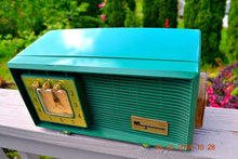 Load image into Gallery viewer, SOLD! - July 28, 2014 - KELLY GREEN Retro Space Age 1959 Magnavox AM20 Tube AM Clock Radio WORKS! - [product_type} - Magnavox - Retro Radio Farm