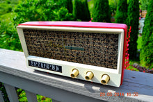 Load image into Gallery viewer, SOLD! - May 29, 2014 - BEAUTIFUL CORAL PINK Retro Vintage 1959 Arvin 2585 Tube AM Radio WORKS! , Vintage Radio - Arvin, Retro Radio Farm  - 11