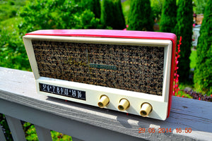 SOLD! - May 29, 2014 - BEAUTIFUL CORAL PINK Retro Vintage 1959 Arvin 2585 Tube AM Radio WORKS! , Vintage Radio - Arvin, Retro Radio Farm  - 11