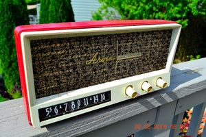 SOLD! - May 29, 2014 - BEAUTIFUL CORAL PINK Retro Vintage 1959 Arvin 2585 Tube AM Radio WORKS! , Vintage Radio - Arvin, Retro Radio Farm  - 10