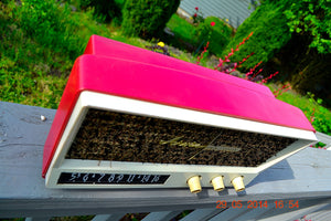 SOLD! - May 29, 2014 - BEAUTIFUL CORAL PINK Retro Vintage 1959 Arvin 2585 Tube AM Radio WORKS! - [product_type} - Arvin - Retro Radio Farm