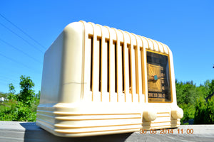 SOLD! - Oct 17, 2014 - BEAUTIFUL Art Deco 1940 Westinghouse WR-176 Plaskon AM Tube Radio Works! , Vintage Radio - Westinghouse, Retro Radio Farm  - 11