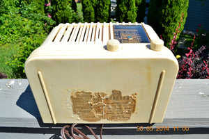 SOLD! - Oct 17, 2014 - BEAUTIFUL Art Deco 1940 Westinghouse WR-176 Plaskon AM Tube Radio Works! , Vintage Radio - Westinghouse, Retro Radio Farm  - 12
