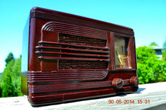 SOLD! - July 01, 2014 - BEAUTIFUL Deco Retro 1938 Packard-Bell 5A Kompak AM Bakelite Tube Radio Works! , Vintage Radio - Packard-Bell, Retro Radio Farm  - 4