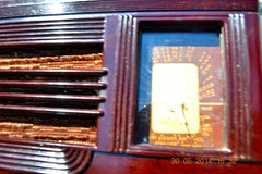 SOLD! - July 01, 2014 - BEAUTIFUL Deco Retro 1938 Packard-Bell 5A Kompak AM Bakelite Tube Radio Works! , Vintage Radio - Packard-Bell, Retro Radio Farm  - 7