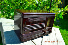SOLD! - July 01, 2014 - BEAUTIFUL Deco Retro 1938 Packard-Bell 5A Kompak AM Bakelite Tube Radio Works! , Vintage Radio - Packard-Bell, Retro Radio Farm  - 3