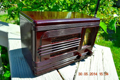 SOLD! - July 01, 2014 - BEAUTIFUL Deco Retro 1938 Packard-Bell 5A Kompak AM Bakelite Tube Radio Works! , Vintage Radio - Packard-Bell, Retro Radio Farm  - 2