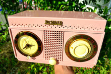 Load image into Gallery viewer, SOLD! - Nov 3, 2014 - PANTHER PINK Retro Jetsons 1954 DeWald H528 Tube AM Bakelite Clock Radio WORKS! - [product_type} - DeWald - Retro Radio Farm