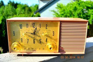 SOLD! - July 28, 2014 - SUAVE MAUVE PINK Retro Jetsons 1950's Philco K778-124 Tube AM Clock Radio WORKS! - [product_type} - Admiral - Retro Radio Farm