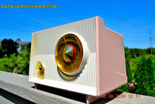 Load image into Gallery viewer, SOLD! - June 12, 2014 - PINK AND WHITE Atomic Age Vintage 1959 RCA Victor Model X-2EF Tube AM Radio WORKS! , Vintage Radio - RCA Victor, Retro Radio Farm  - 1