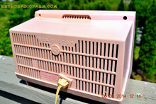 Load image into Gallery viewer, SOLD! - June 12, 2014 - PINK AND WHITE Atomic Age Vintage 1959 RCA Victor Model X-2EF Tube AM Radio WORKS! , Vintage Radio - RCA Victor, Retro Radio Farm  - 8