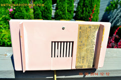 SOLD! - June 12, 2014 - PINK AND WHITE Atomic Age Vintage 1959 RCA Victor Model X-2EF Tube AM Radio WORKS! , Vintage Radio - RCA Victor, Retro Radio Farm  - 10